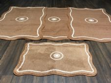 ROMANY WASHABLES TRAVELLER MATS SET NON SLIP LARGE SIZE BEST QUALITY, SHAPED